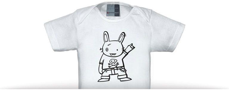 hasendisko baby shirt – rock on!