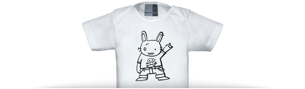"Baby shirt ""rock on!"""