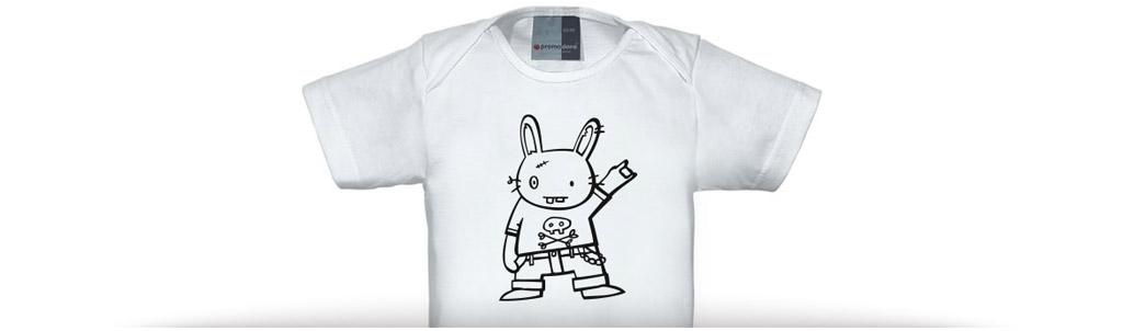 "Baby shirt ""rock on!"""