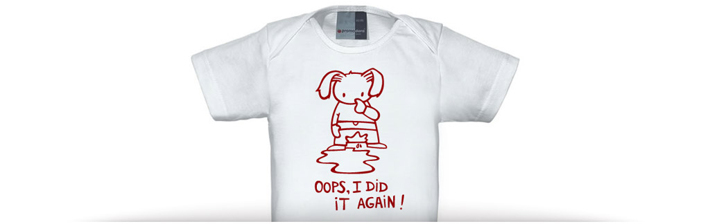 "Baby shirt ""oops, I did it again"""