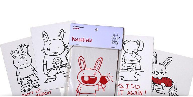 hasendisko postcard set