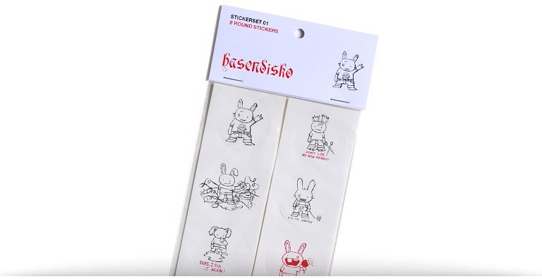 hasendisko stickerset 01